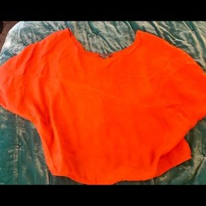 Vince silk boxy cropped top